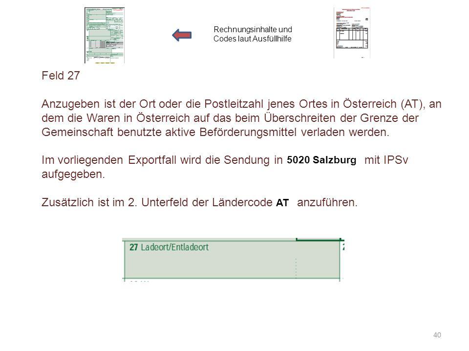 Im vorliegenden Exportfall wird die Sendung in mit IPSv aufgegeben.