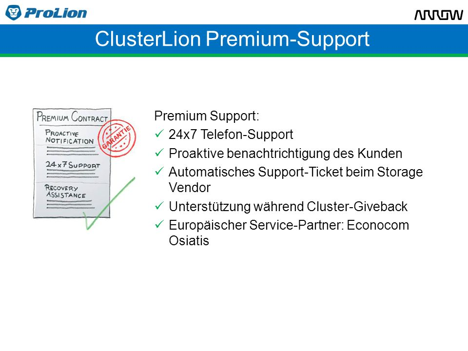 ClusterLion Premium-Support