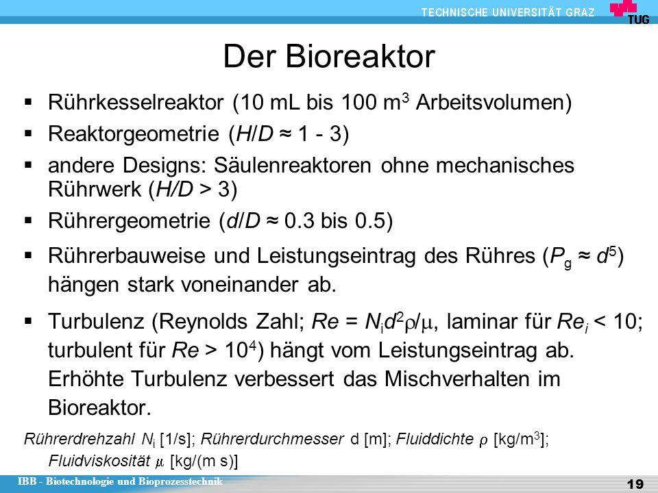 Der Bioreaktor Rührkesselreaktor (10 mL bis 100 m3 Arbeitsvolumen)