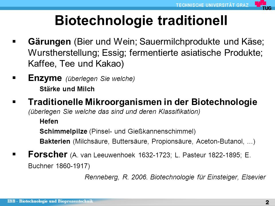 Biotechnologie traditionell
