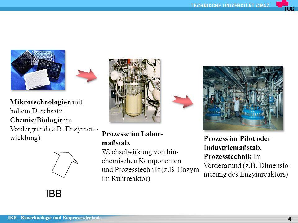 IBB Mikrotechnologien mit hohem Durchsatz. Chemie/Biologie im