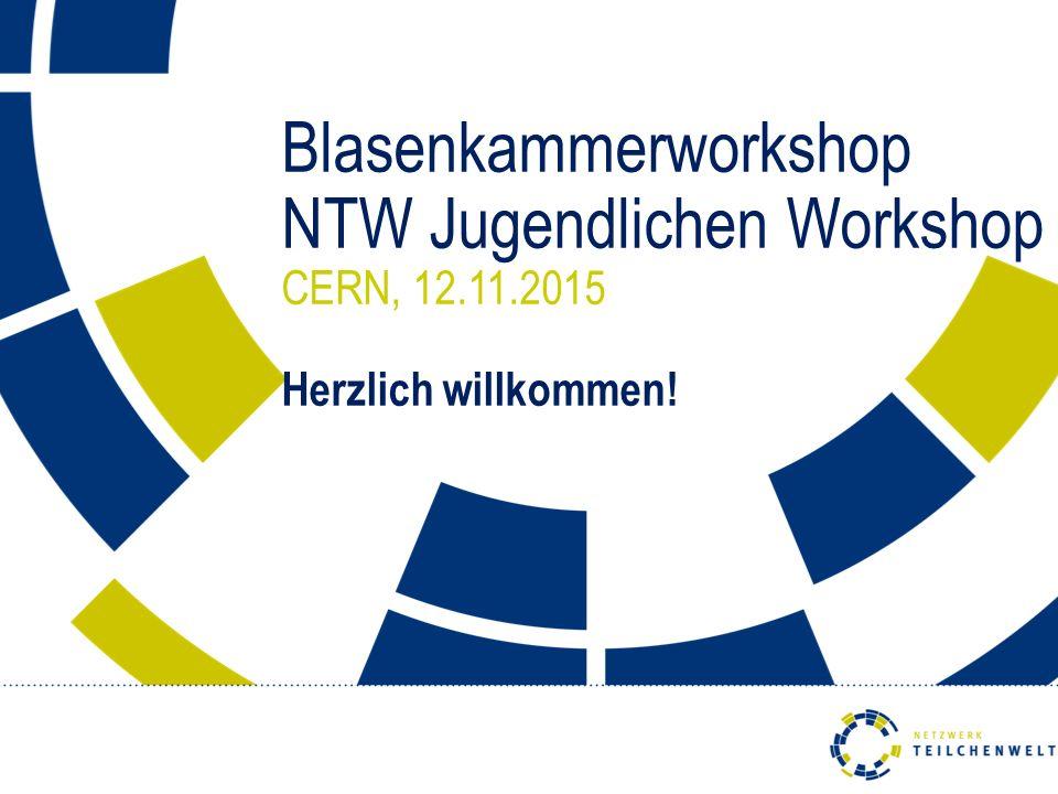 Blasenkammerworkshop NTW Jugendlichen Workshop CERN, 12. 11