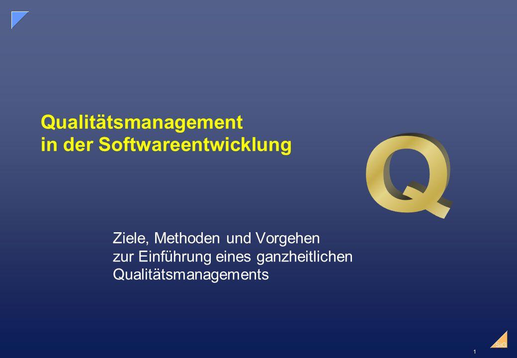 Qualitätsmanagement in der Softwareentwicklung