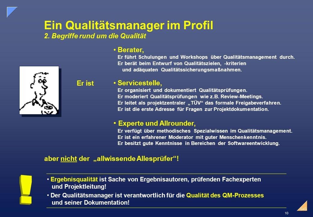Ein Qualitätsmanager im Profil 2. Begriffe rund um die Qualität