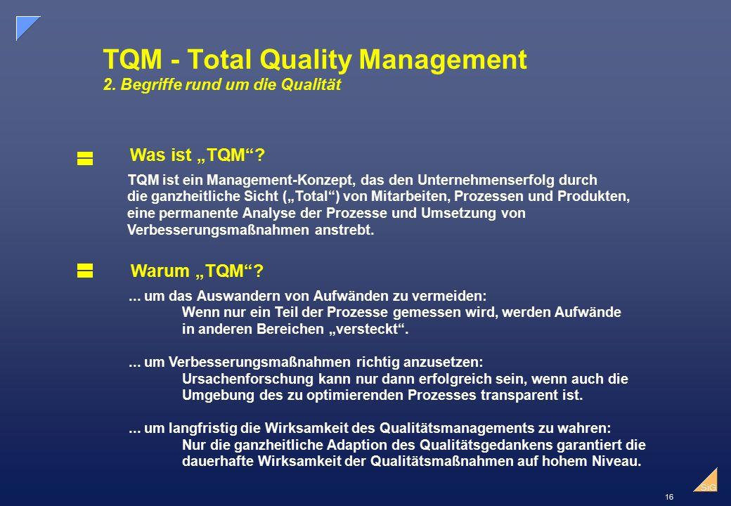 TQM - Total Quality Management 2. Begriffe rund um die Qualität