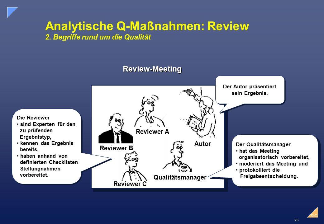 Analytische Q-Maßnahmen: Review 2. Begriffe rund um die Qualität