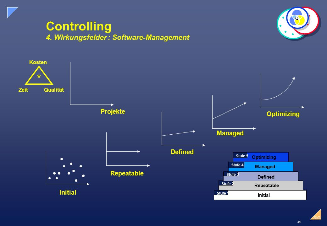 Controlling 4. Wirkungsfelder : Software-Management