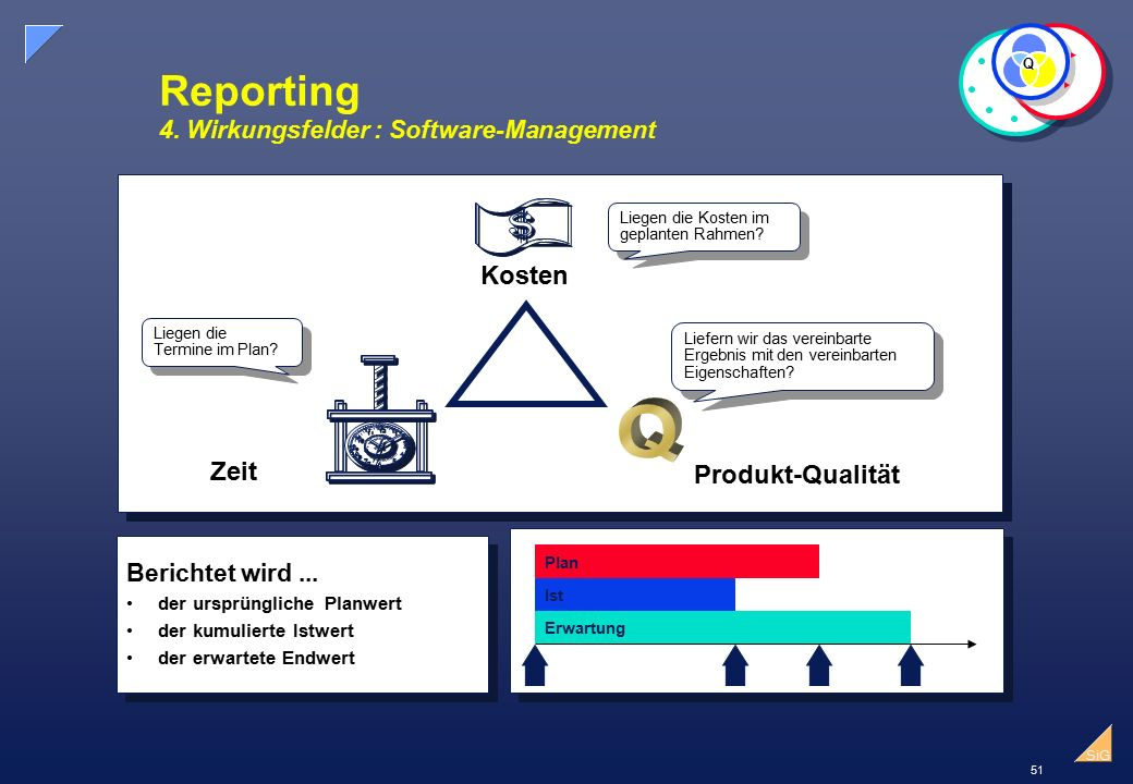Reporting 4. Wirkungsfelder : Software-Management