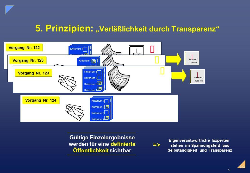 """5. Prinzipien: """"Verläßlichkeit durch Transparenz"""