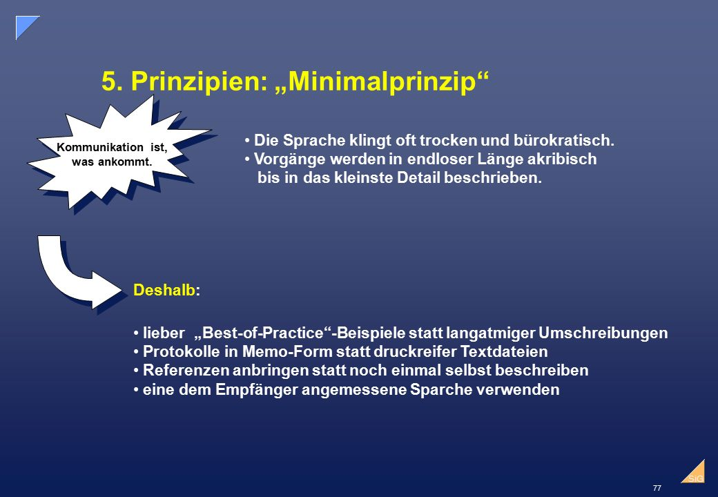 "5. Prinzipien: ""Minimalprinzip"