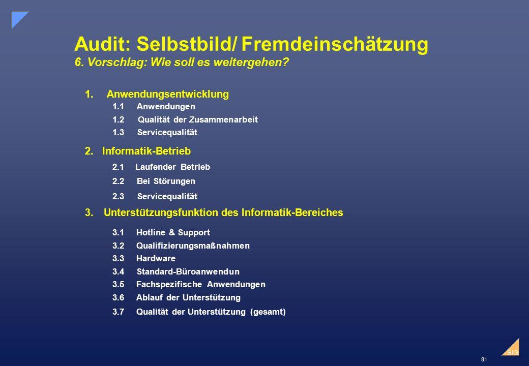 Audit: Selbstbild/ Fremdeinschätzung 6