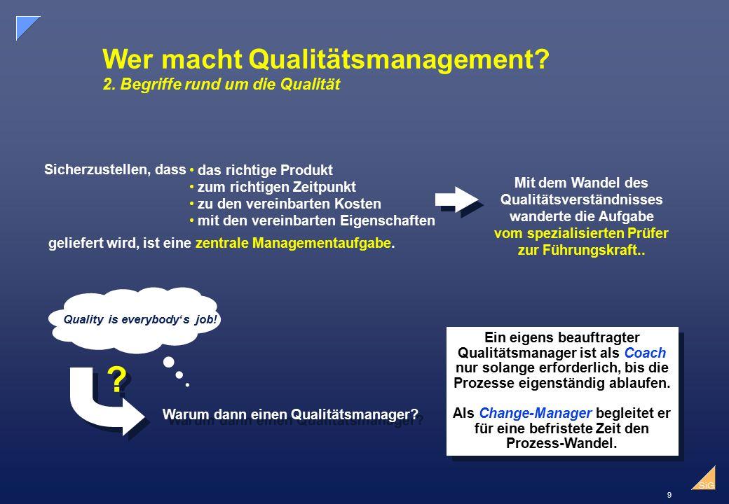 Wer macht Qualitätsmanagement 2. Begriffe rund um die Qualität