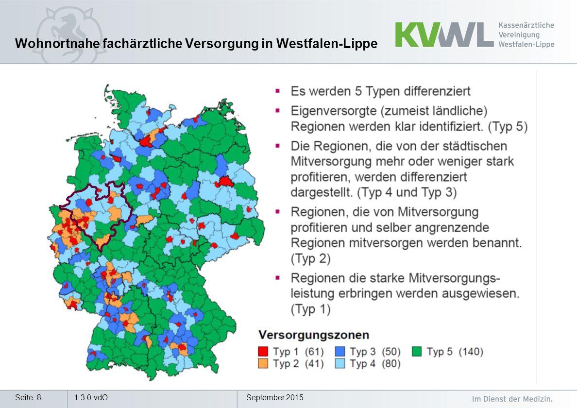 Wohnortnahe fachärztliche Versorgung in Westfalen-Lippe