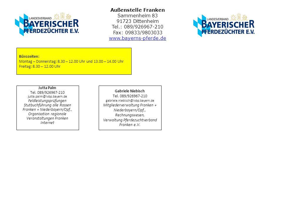 Außenstelle Franken Sammenheim 83 91723 Dittenheim Tel