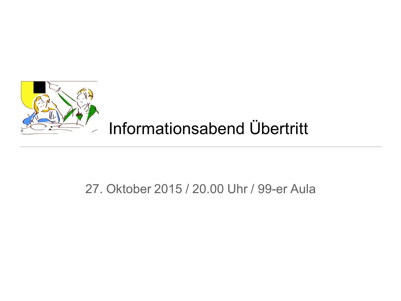 Informationsabend Übertritt