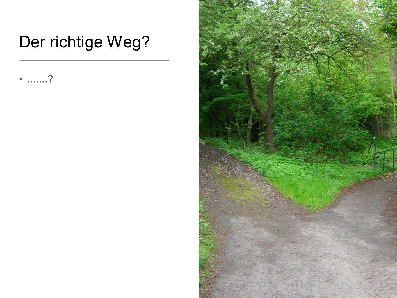 Der richtige Weg .......