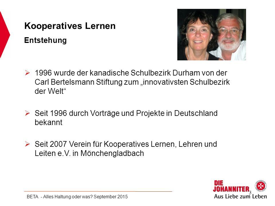 Kooperatives Lernen Entstehung