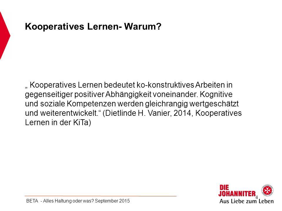 Kooperatives Lernen- Warum