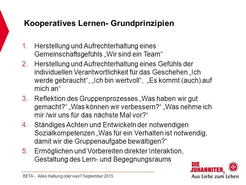 Kooperatives Lernen- Grundprinzipien
