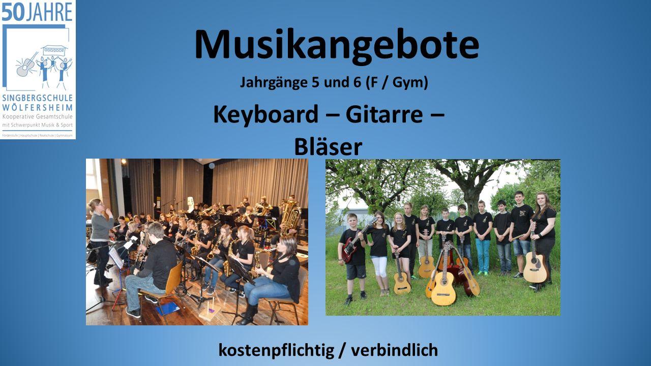 Keyboard – Gitarre – Bläser kostenpflichtig / verbindlich
