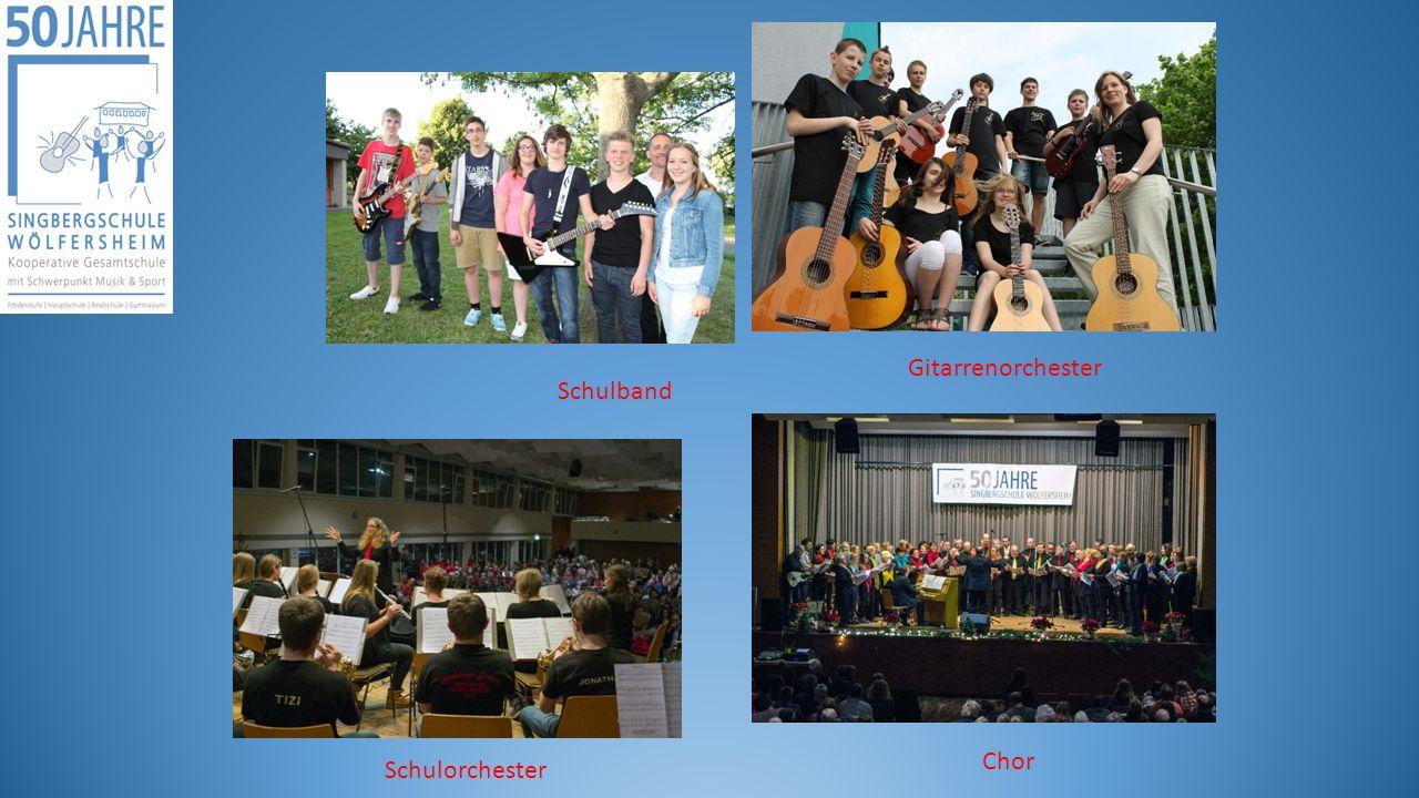 Gitarrenorchester Schulband Chor Schulorchester