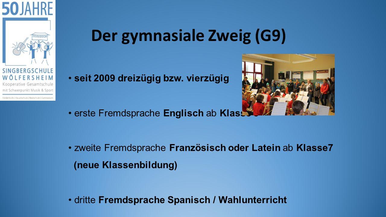 Der gymnasiale Zweig (G9)