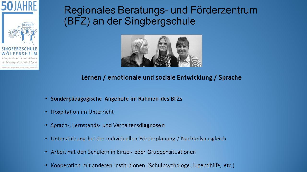 Regionales Beratungs- und Förderzentrum (BFZ) an der Singbergschule