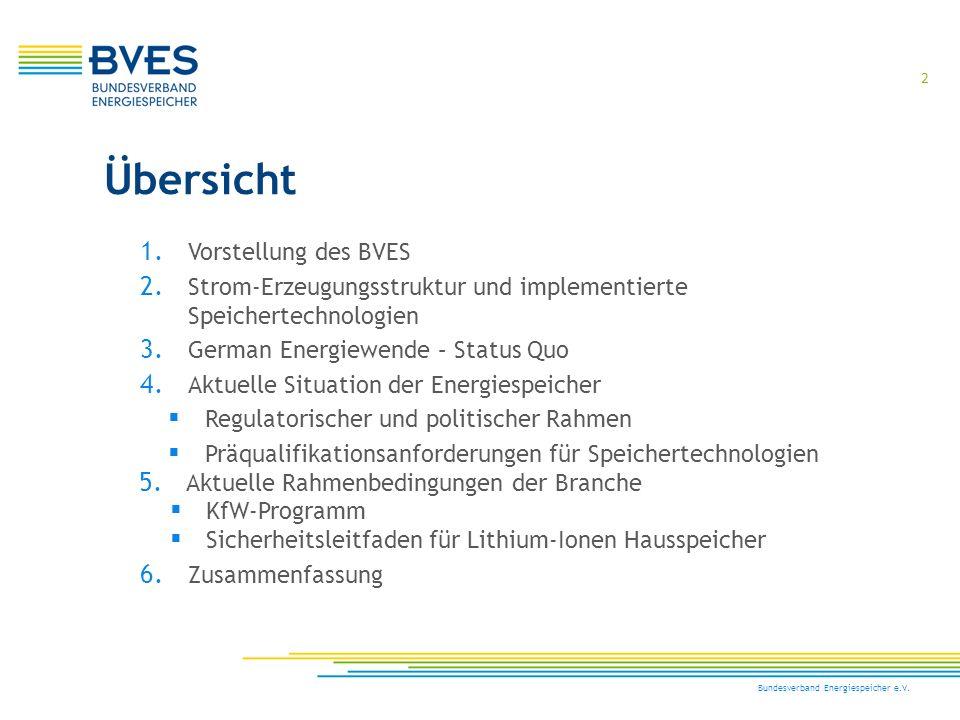 Übersicht Vorstellung des BVES