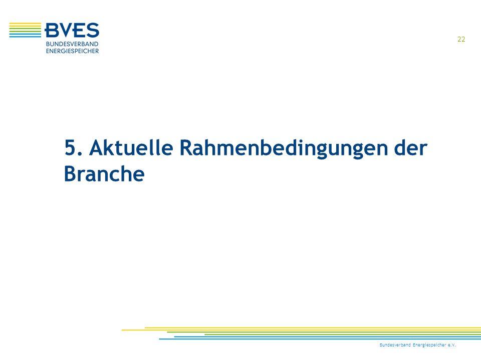 5. Aktuelle Rahmenbedingungen der Branche