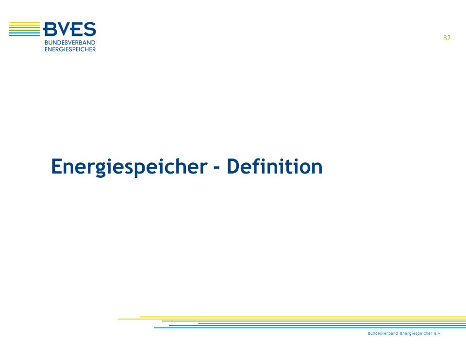 Energiespeicher - Definition