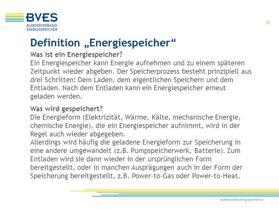 """Definition """"Energiespeicher"""