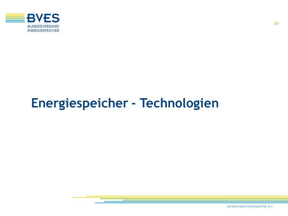 Energiespeicher - Technologien