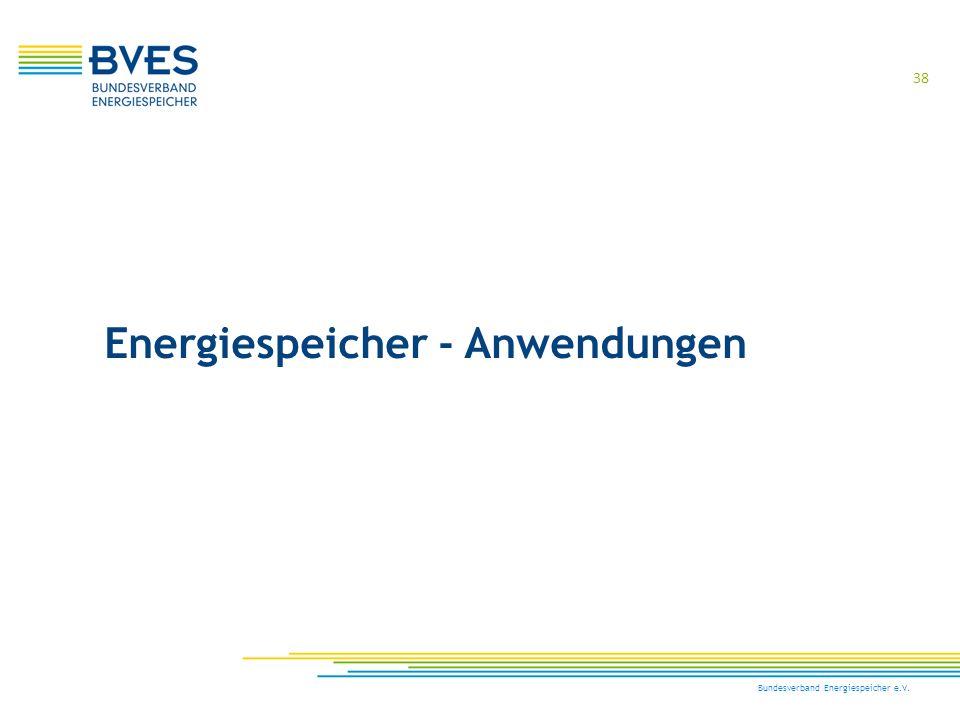 Energiespeicher - Anwendungen