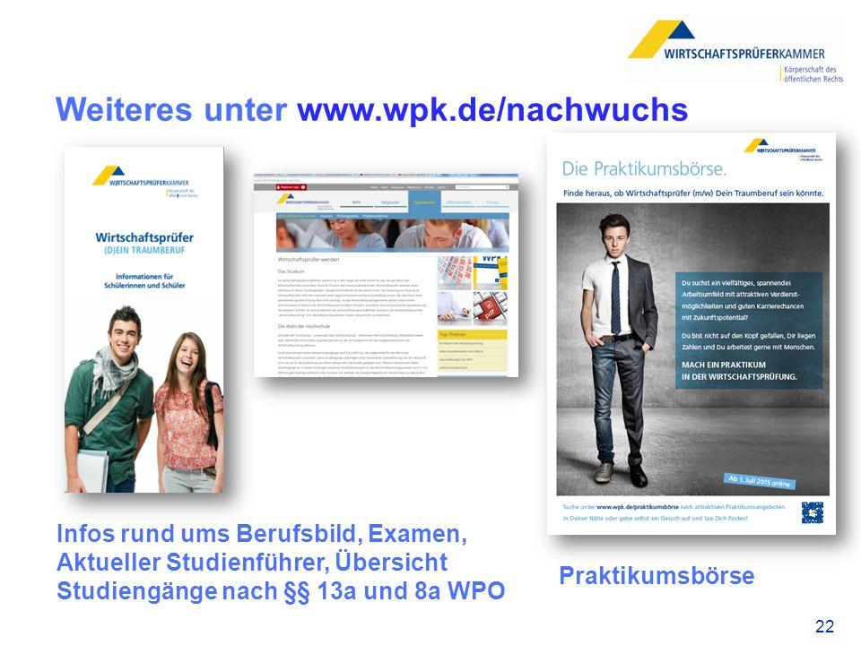 Weiteres unter www.wpk.de/nachwuchs