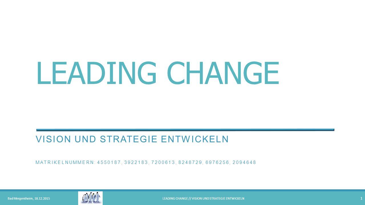 Leading Change // Vision und Strategie entwickeln
