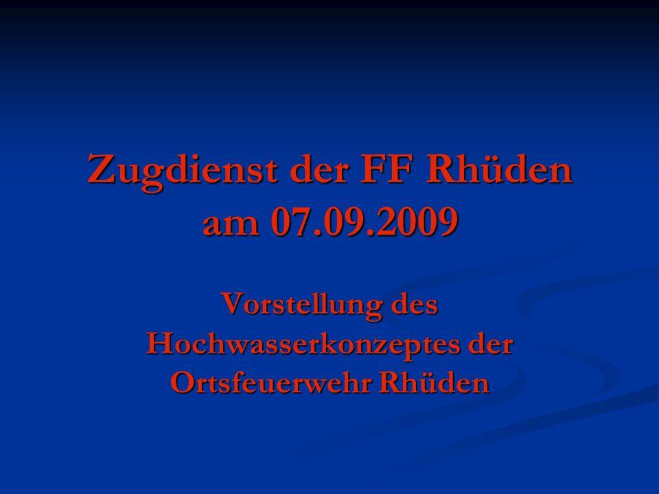 Zugdienst der FF Rhüden am 07.09.2009
