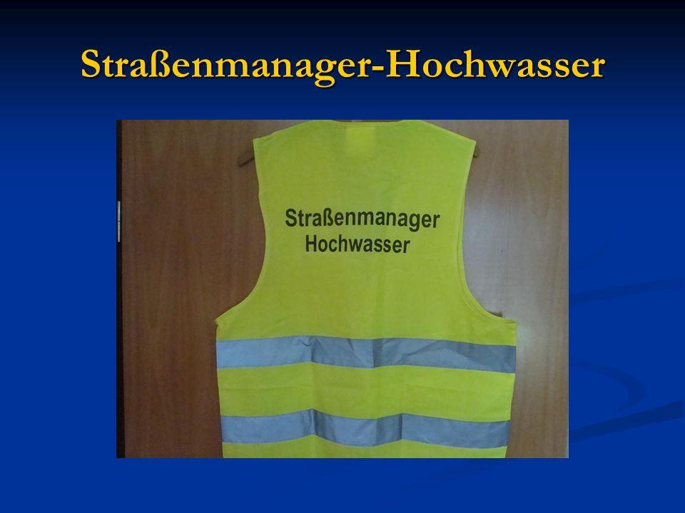 Straßenmanager-Hochwasser