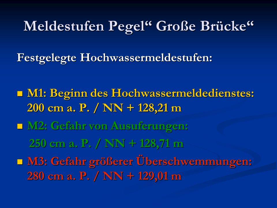 Meldestufen Pegel Große Brücke