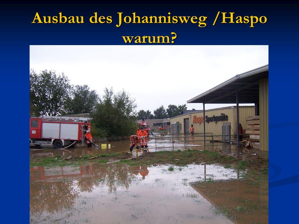 Ausbau des Johannisweg /Haspo warum