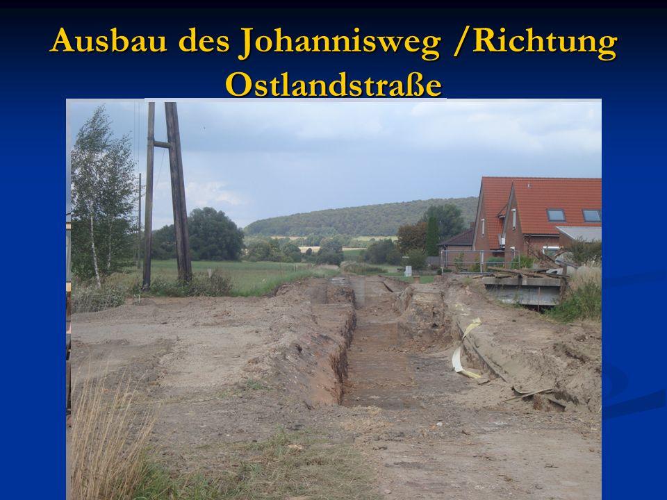 Ausbau des Johannisweg /Richtung Ostlandstraße