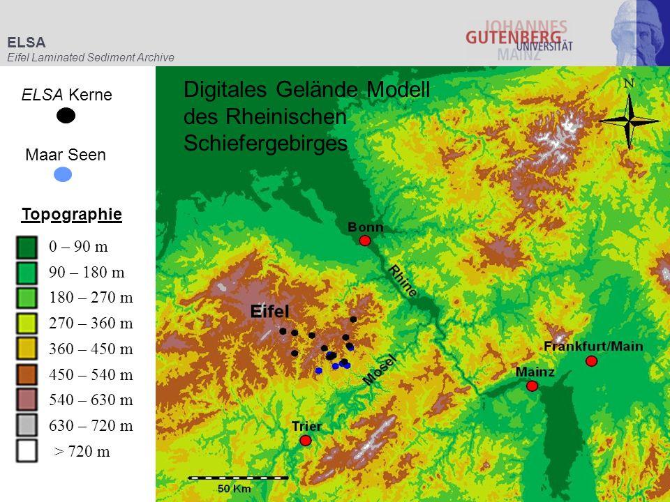Digitales Gelände Modell des Rheinischen Schiefergebirges