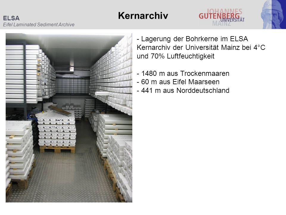 Kernarchiv ELSA. Eifel Laminated Sediment Archive.