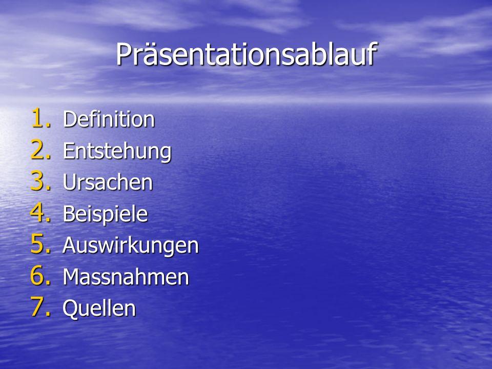 Präsentationsablauf Definition Entstehung Ursachen Beispiele