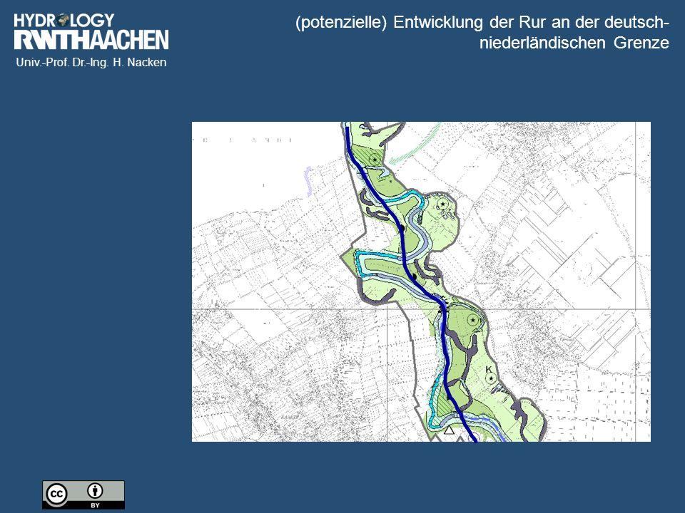 (potenzielle) Entwicklung der Rur an der deutsch-niederländischen Grenze