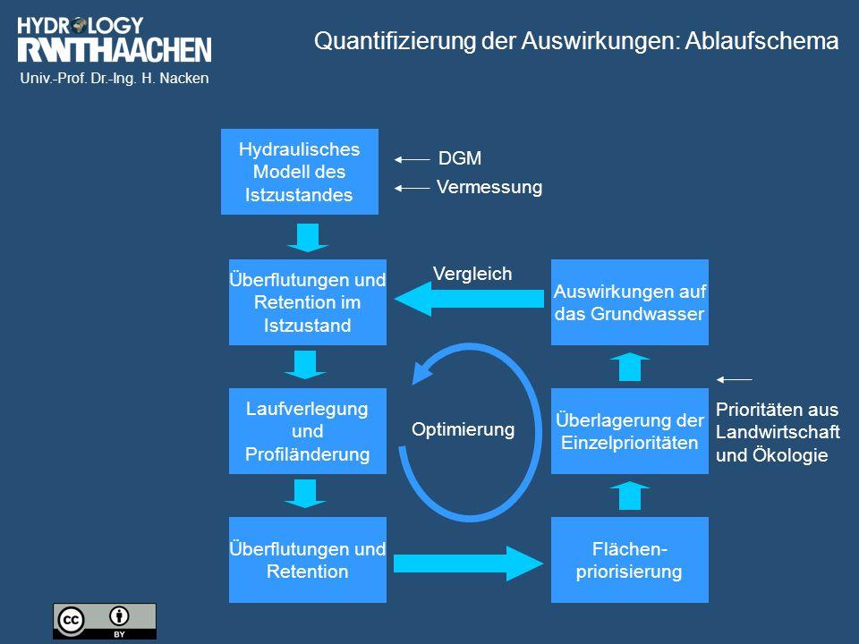 Quantifizierung der Auswirkungen: Ablaufschema