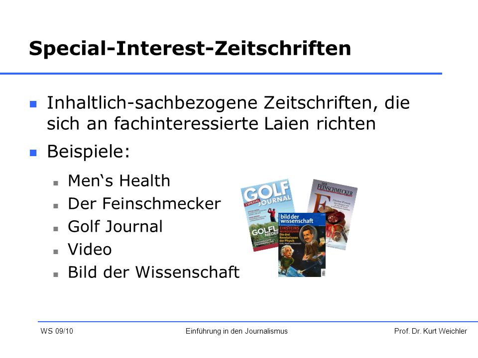 Special-Interest-Zeitschriften