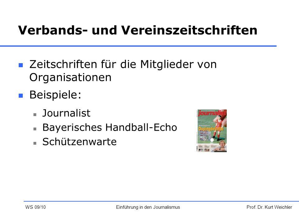 Verbands- und Vereinszeitschriften