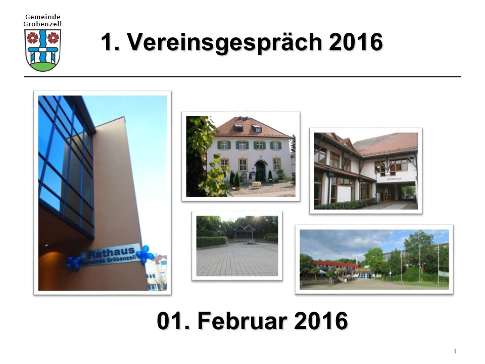 1. Vereinsgespräch 2016 01. Februar 2016