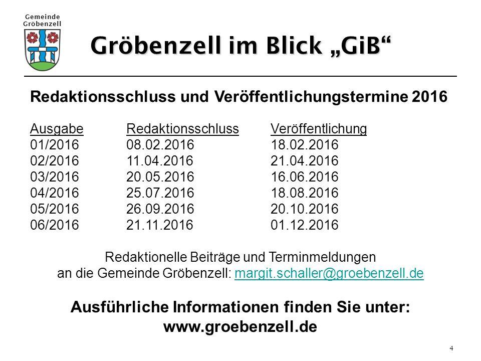 "Gröbenzell im Blick ""GiB"