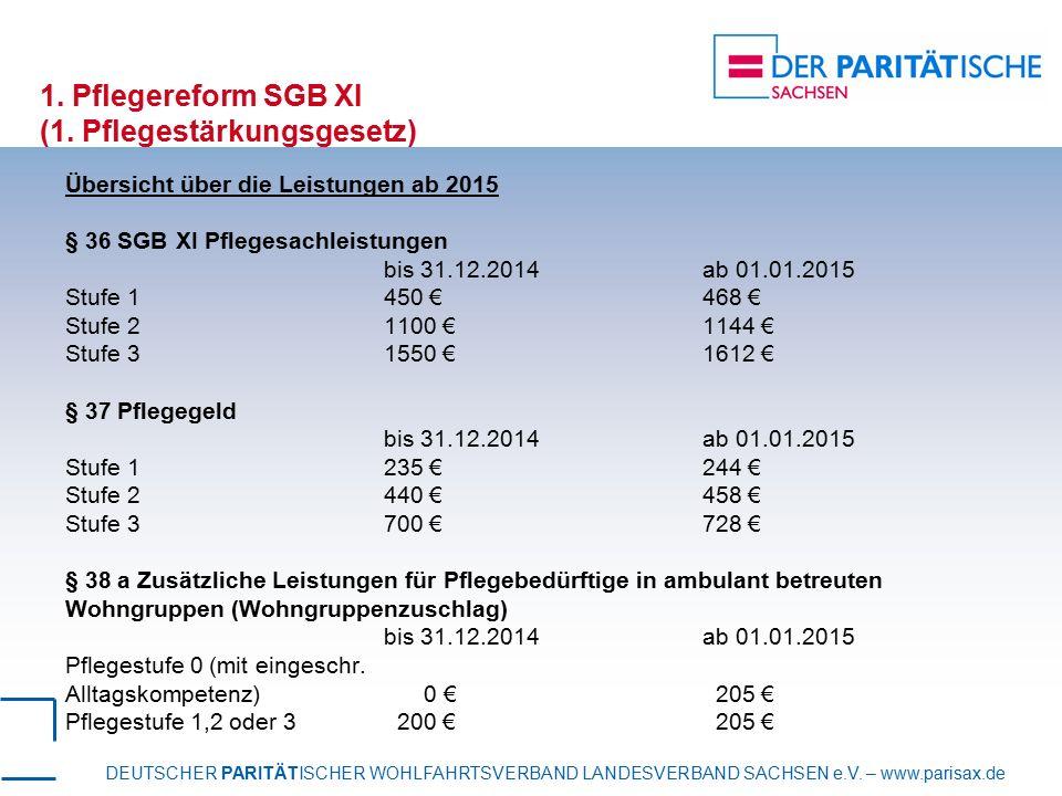 1. Pflegereform SGB XI (1. Pflegestärkungsgesetz)